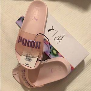 Sofia Webster x Puma. Pink Kelly Slides